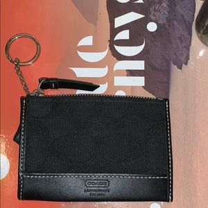 COACH mini keychain wallet. Never been used!